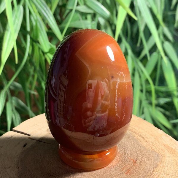 Carnelian Crystal Egg 50mm Named Christine