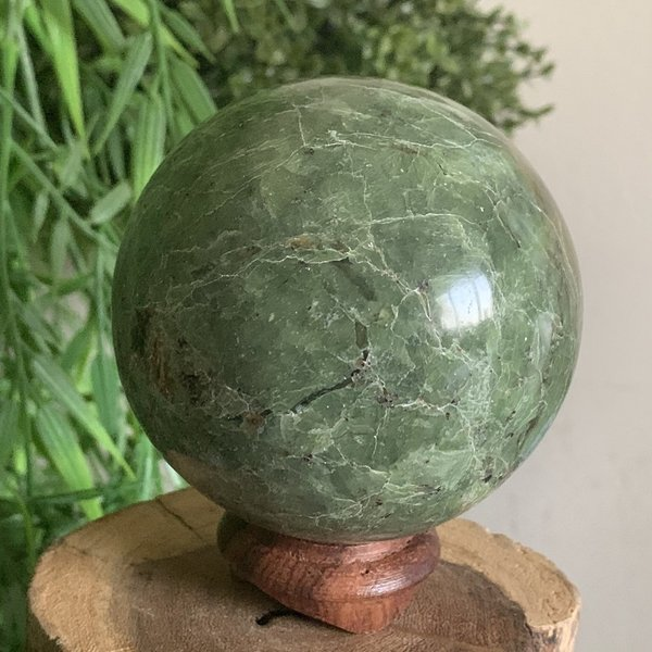 Rare Chrysoprase Sphere 70mm Named Carol ❤️