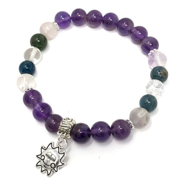 Bespoke Crystal Remedy Charm Bracelet for Addiction Support