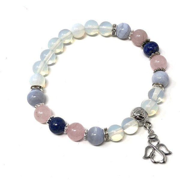 Bespoke Crystal Prescription Charm Bracelet for Angelic Connection