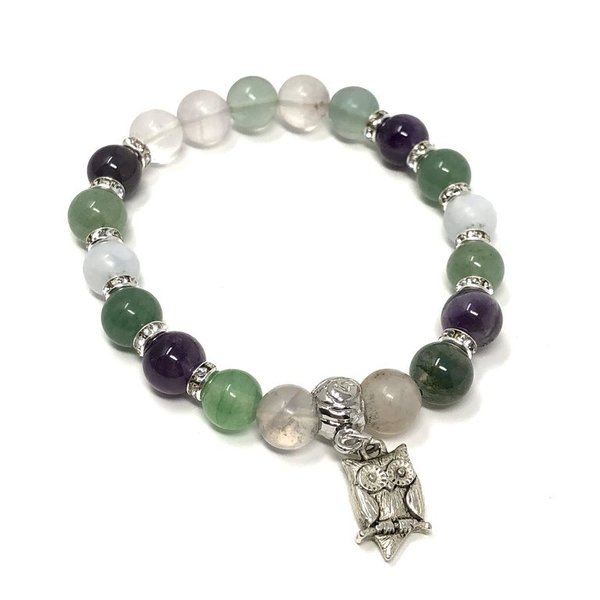 Bespoke Crystal Remedy Charm Bracelet for Exam Support