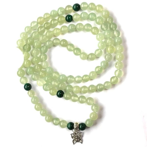 New Jade and Malachite Mala Beads Named Spice
