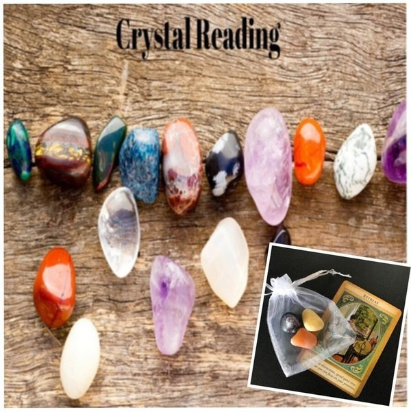 Crystal Reading, Crystals & Personal Message Card to Keep