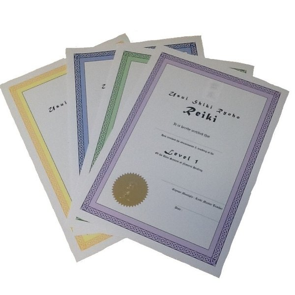 Bespoke Reiki Certificates - Made to order