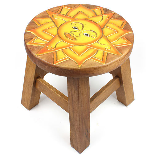 Childrens or Step up Stool with Sun